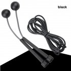 2 in 1 Wireless Skipping Rope Indoor Gym Fitness Cordless Skipping Rope Burning Calorie black