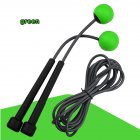 2 in 1 Wireless Skipping Rope Indoor Gym Fitness Cordless Skipping Rope Burning Calorie green