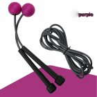 2 in 1 Wireless Skipping Rope Indoor Gym Fitness Cordless Skipping Rope Burning Calorie purple