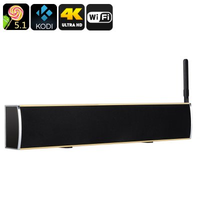 Anroid TV Box + Soundbar (Gold)