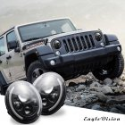 2 pcs 7 Inch 200W 4300K 6000K LED Headlight for Jeep Wrangler CJ JK TJ LJ 4300K warm yellow light