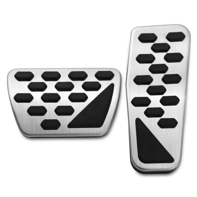 2 pcs/set Gas And Brake Pedal Cover Auto Stainless Steel Foot Pedal Pad Kit For 2018 Jeep Wrangler Jl Models