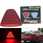 20 LED Car Motorcycle  Trailer Tail Reverse Brake Light Work Lamp Stoplight Bulb Red shell_Driving pilot flash/brake flash