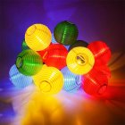 20 LED Solar-Powered Lantern String Light Yard Garden Festival Wedding Decoration  Colorful (red, yellow, blue, green)
