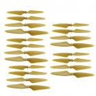 20 Pcs Propeller Blades Propellers for HUBSAN H501S X4   H501C MJX B3 RC Quadcopter  gold