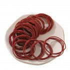 20 Piece Set Girl's Rubber Band Ins Simple Rope Tie Hair High Elastic Ring Headdress red