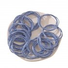 20 Piece Set Girl's Rubber Band Ins Simple Rope Tie Hair High Elastic Ring Headdress blue