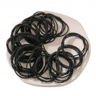 20 Piece Set Girl's Rubber Band Ins Simple Rope Tie Hair High Elastic Ring Headdress black