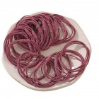 20 Piece Set Girl's Rubber Band Ins Simple Rope Tie Hair High Elastic Ring Headdress dark pink