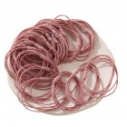 20 Piece Set Girl's Rubber Band Ins Simple Rope Tie Hair High Elastic Ring Headdress Pink