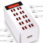 20-Ports Max 100W USB Hub Phone Charger Multiplie Devices Charging Dock Station Smart Adapter EU Plug