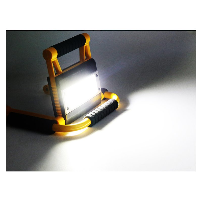 2000LM 20W LED Handheld Work Light USB Rechargeable Searchlight Camping Light White light_With USB cable