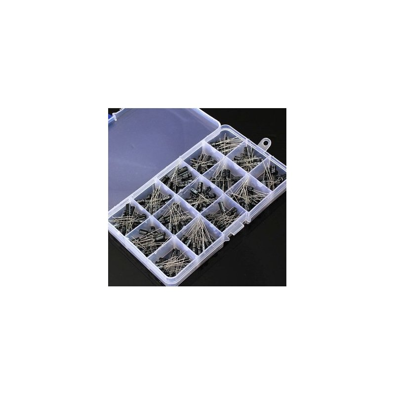 200Pcs 15 Value Electrolytic Capacitor Assortment Box Kit 200pcs