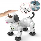 2020 777 602S New Remote Control Smart Robot Dog 2 4G Wireless Kids Toy Intelligent Talking Robot Dog Electronic Pet kid Gift White