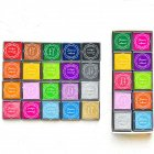 20Colors 4*4cm DIY Scrapbooking Vintage Crafts Ink Pad Colorful Rubber Stamps Finger Painting Inkpad 20pcs/set