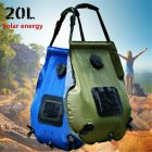 20L Solar Shower Bag Outdoor Camping Hot Water Bottle blue