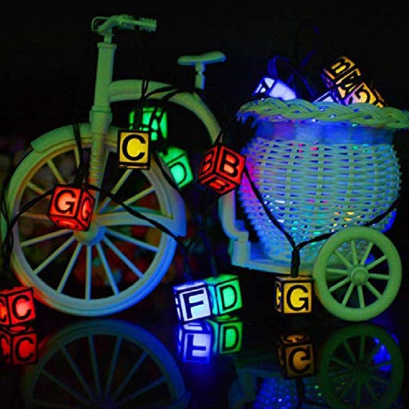 20LED Christmas Solar Energy Lamp String Alphabet Outdoor Waterproof Party Festival Christmas Halloween Wedding Decor color_5 meters 20 LED