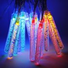 20LED Christmas String Lamp Waterproof Solar Bubble Column String Lights Festival Decration Color String Lamp color Battery box  3 meters 20 lights