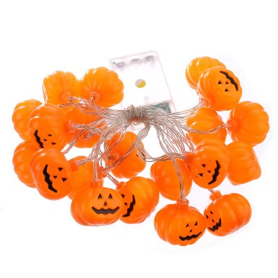 20LED Halloween Lights String Pumpkin Lights Battery Operated Lights for Halloween Decorations Outdoor, Indoor, Party Warm White
