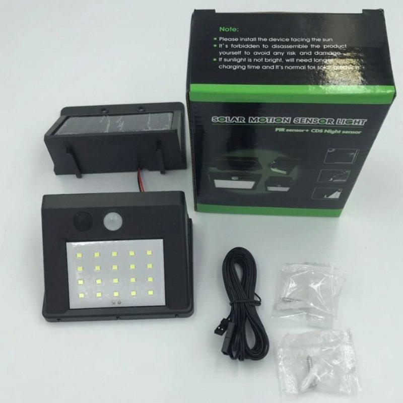 20LED Split Motion Sensor Solar Lamp Outdoor Garden Lamp Decoration Night Security Wall light 3 function 20 lamp beads