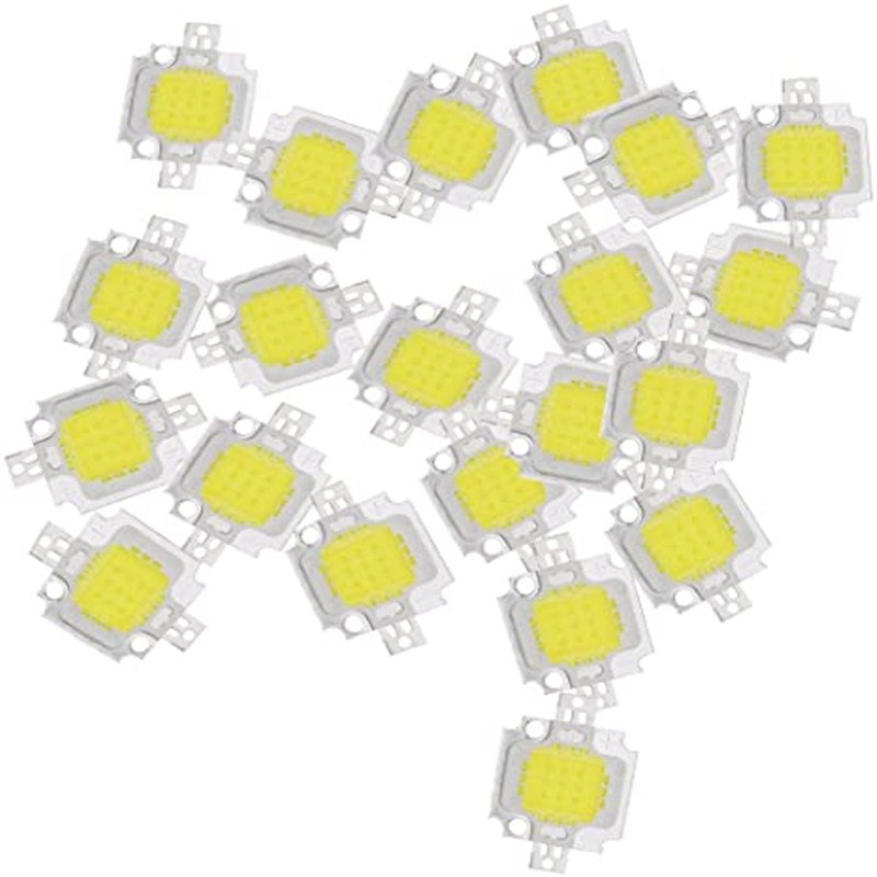 20PCS 10W LED Bead  White High Power  LED Lamp Chip DC 9-12V  White light