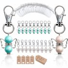 20Pcs/Set Guardian Angel Shape Hanging Pendant Key Chain Yarn Bag Label for Wedding Birthday Party Style 2