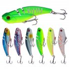 20g Bionic Bait Plastic Artificial Hard Lures with Hooks Colorful Fishing Accessories 6 colors_6PCS mixed