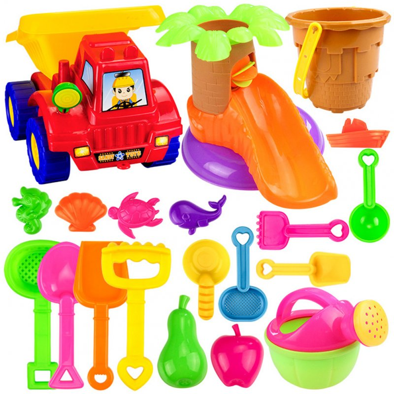 20pcs /set Children Beach Sand Pool Set Baby Water And Sand Dredging Tools Sand Water Play Toys Suit