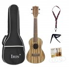 21/24/26inch Travel Ukulele Zebra Wood Tenor Thin Body Hawaii Guitar Musical Instrument for Ukulele Starter Kids Student and Adult  24inch_Zebra