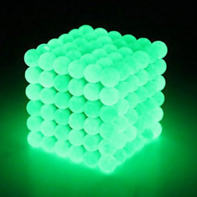 216Pcs 5mm DIY Magic Magnet Magnetic Blocks Balls Sphere Cube Beads Puzzle Building Toys Stress Reliever Fluorescent green