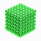 216Pcs 5mm DIY Magic Magnet Magnetic Blocks Balls Sphere Cube Beads Puzzle Building Toys Stress Reliever green