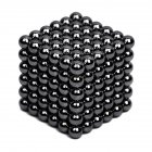 216Pcs 5mm DIY Magic Magnet Magnetic Blocks Balls Sphere Cube Beads Puzzle Building Toys Stress Reliever Bright black