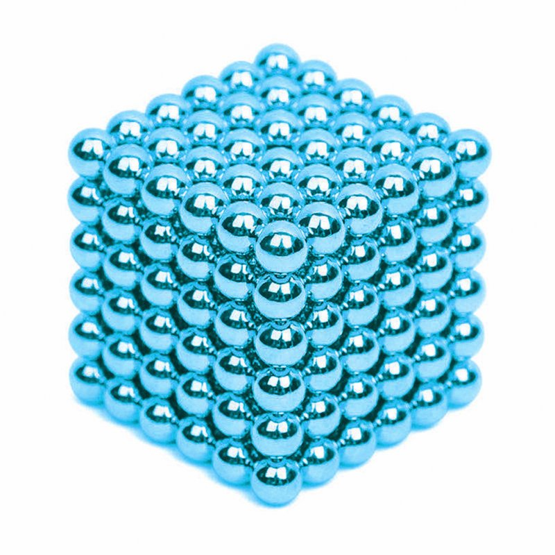 216Pcs 5mm DIY Magic Magnet Magnetic Blocks Balls Sphere Cube Beads Puzzle Building Toys Stress Reliever Light blue