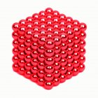 216Pcs 5mm DIY Magic Magnet Magnetic Blocks Balls Sphere Cube Beads Puzzle Building Toys Stress Reliever red