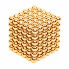216Pcs 5mm DIY Magic Magnet Magnetic Blocks Balls Sphere Cube Beads Puzzle Building Toys Stress Reliever Gold