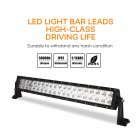 21inch 2 Rows 200W LED Off-road Roof Car Headlights Strip Bar Lights 21 inches