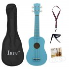 21inch Ukulele Basswood Acoustic Ukelele+Bag+Strap+String+Capo  Hawaii Guitar Musical Instrument Kit for Beginner blue