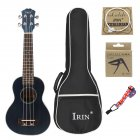 21inch Ukulele Concert 4 Strings Musical Instruments 15 Frets Spruce Wood Hawaiian Small Guitar Free Case Strings Gradient blue