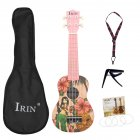21inch Ukulele with Bag Strap String Capo Acoustic Hawaii Girl Instrument Kit 21 inch