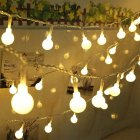 220V 10M 100LED Pretty Ball Bulb String Lights Garden Home Party Bar Festival Decoration Warm White