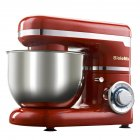 220V 4L Stainless Steel Bowl 1200W Kitchen Food Stand Mixer 4L Cream Egg Whisk Blender European Regulation red