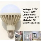 220V E27 LED Ball Bulb with Human Body Induction   Light Sensor