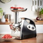 220v Home Meat Grinder Fully Automatic Electric Mixer for Cooking black_European regulations