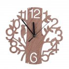 22CM Stylish Wooden Tree-Shape Wall Clock Home Decoration Gift