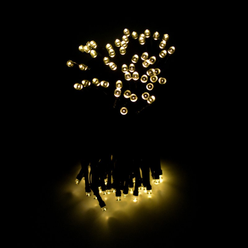 22M 200LEDs String Light with Solar Strip Night Light Lamp Fairy Lights for Outdoor Christmas Trees Wedding Garden Warm White