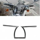 22mm 7 8 inches 25mm 1inch Motorcycle Drag Handlebars Z Bars 8 3 4  Plating