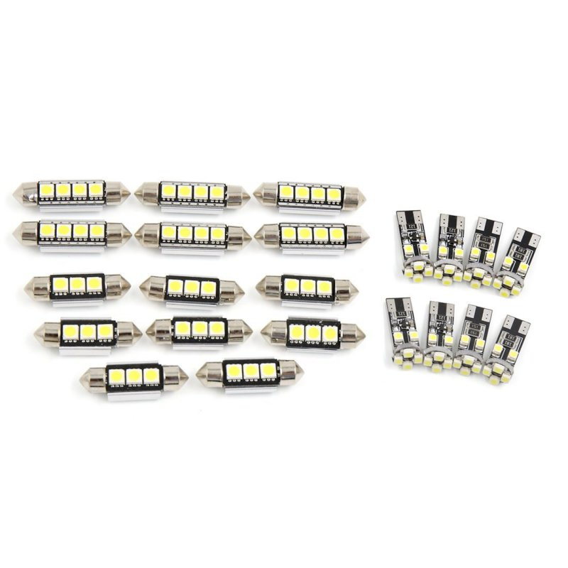 22pcs White Car Dome Map Reading LED Interior Light for BMW X5 E53 2001-2006 Canbus