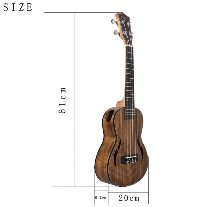 23/26 inches 18 Frets Walnut Ukulele Hawaiian Small Guitar Hawaii 4 String Guitar 23 inches_18 frets walnuts