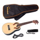 23 Inch Portable Ukulele Spruce Wood Fingerboard Bridge Ukulele Set