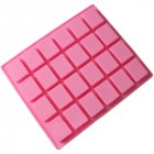 24 Cavities Rectangle Silicone Oven Handmade Cake Moulds Soap DIY Moulds Chocolate Mold 24.5x20.5x1.5cm